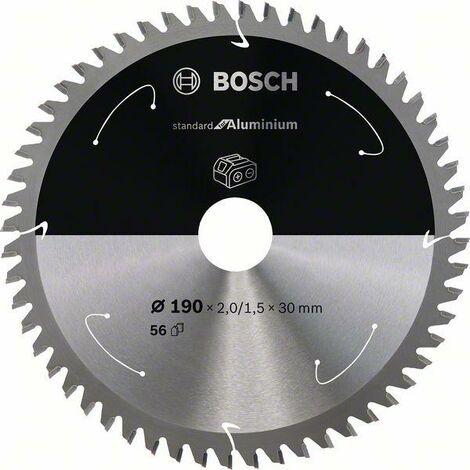 Bosch Lame de scie circulaire Standard for Aluminium pour scies sans fil 190x2/1.5x30, T56 - 2608837771