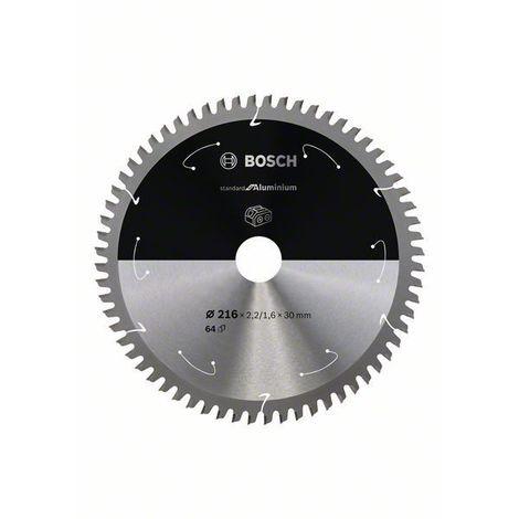 Bosch Lame de scie circulaire Standard for Aluminium pour scies sans fil 216x2.2/1.6x30, T64 - 2608837777