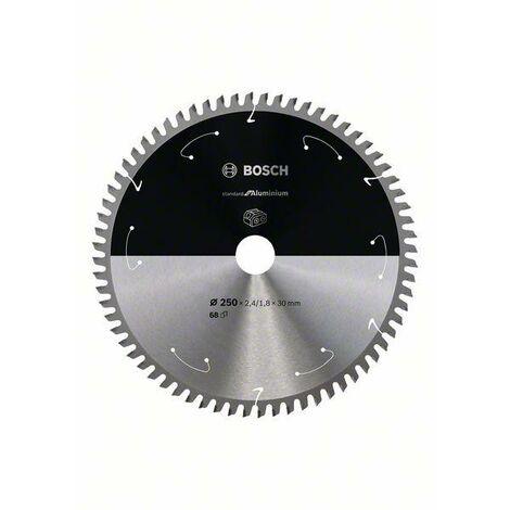 Bosch Lame de scie circulaire Standard for Aluminium pour scies sans fil 250x2.4/1.8x30, T68 - 2608837778