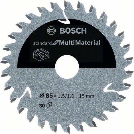 Bosch Lame de scie circulaire Standard for Multimaterial pour scies sans fil 85 x 1,5/1 x 15 T30 - 2608837752