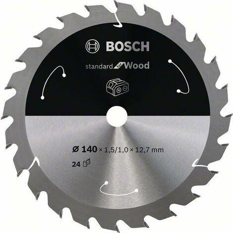 Bosch Lame de scie circulaire Standard for Wood pour scies sans fil 140x1.5/1x12.7, T24 - 2608837670