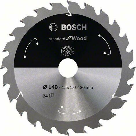 Bosch Lame de scie circulaire Standard for Wood pour scies sans fil 140x1.5/1x20, T24 - 2608837671