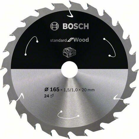 Bosch Lame de scie circulaire Standard for Wood pour scies sans fil 165x1.5/1x20, T24 - 2608837685