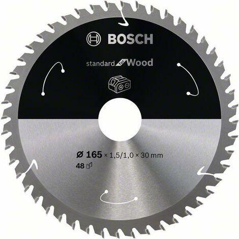 Bosch Lame de scie circulaire Standard for Wood pour scies sans fil 165x1.5/1x30, T48 - 2608837689