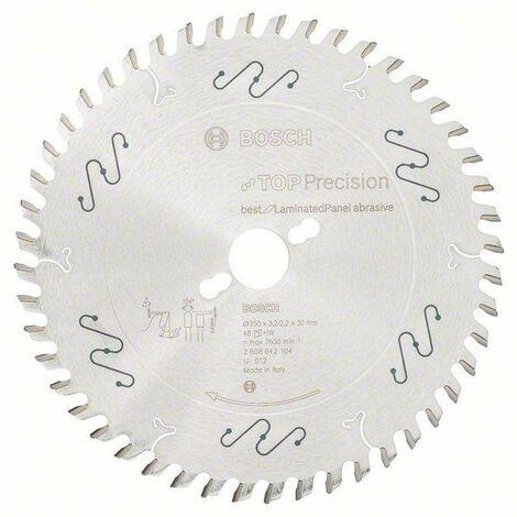 Bosch Lame de scie circulaire Top Precision Best for Laminated Panel Abrasive 250x30x3,2 mm, 48 dents - 2608642104