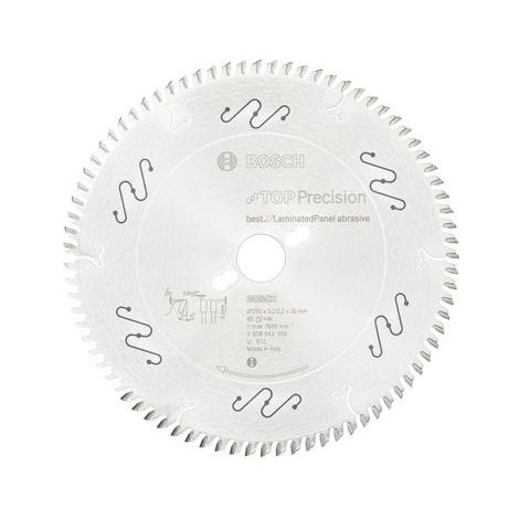 Bosch Lame de scie circulaire Top Precision Best for Laminated Panel Abrasive 250x30x3,2 mm, 80 dents - 2608642109