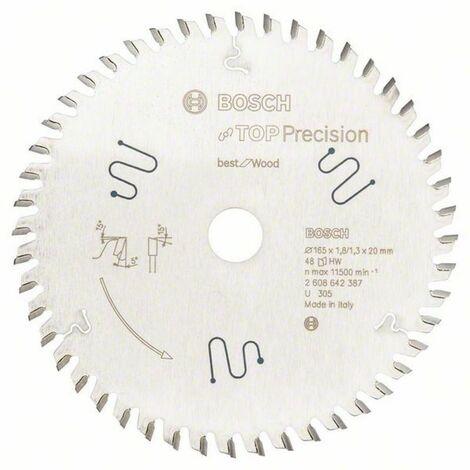 Bosch Lame de scie circulaire Top Precision Best for Multi Material 165 x 20 x 1,8/1,3 x 56