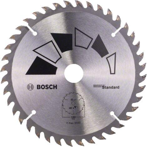 "main image of ""Bosch Lame scie circulaire Bois 160x20/16x2,2mm ; 40D"""