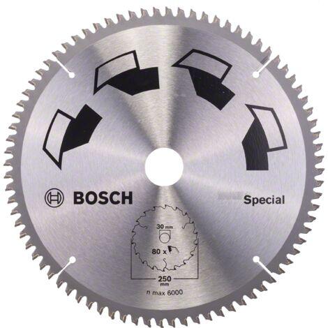 Bosch Lame scie circulaire Multimatériaux 250x30x3,2mm ; 80D