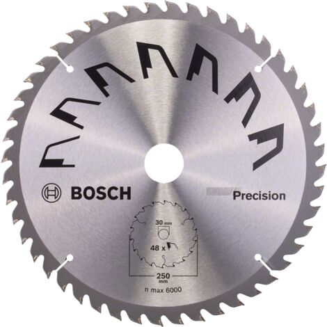 Bosch Lame scie circulaire Précision Bois 250x30x3,2mm ; 48D