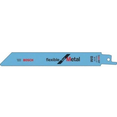 BOSCH Lames de scie sabre flexible pour métal - S 1122 EF