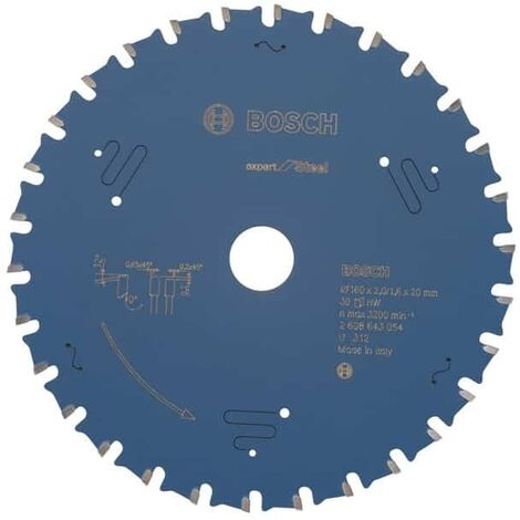 BOSCH Lames scie circulaire portative à métaux Expert for Steel - Acier