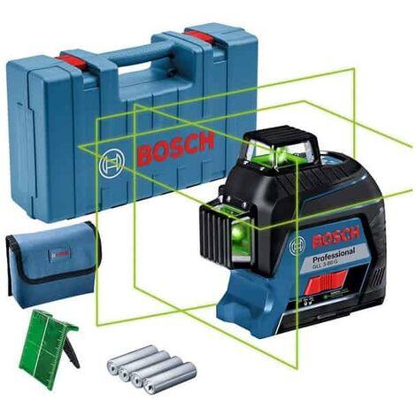 BOSCH Laser lignes auto 3 plans vert 40m GLL3-80G - 0601063Y00