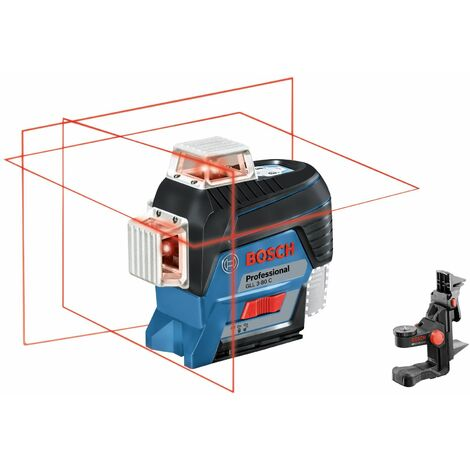 Bosch Professional Laser lignes GLL 3-80 C Professional, avec pack d'accessoires - 0601063R03