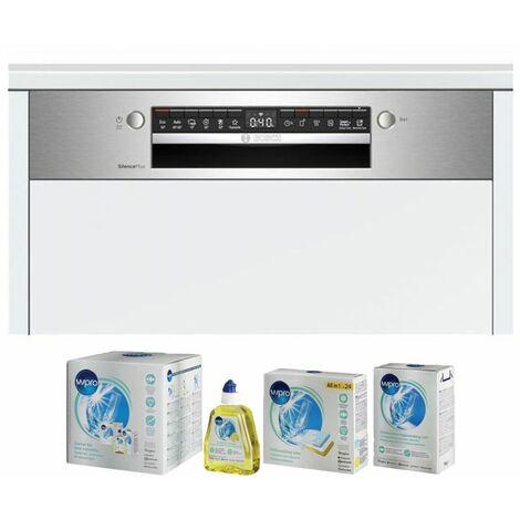 BOSCH Lave-vaisselle intégrable encastrable bandeau inox 44dB 13 couverts 60cm AquaSensor - Inox