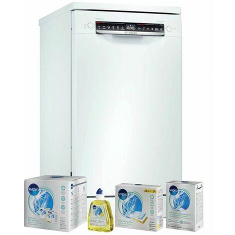 BOSCH Lave-vaisselle posable blanc 10 couverts 45cm EcoSilence Connecté - Blanc