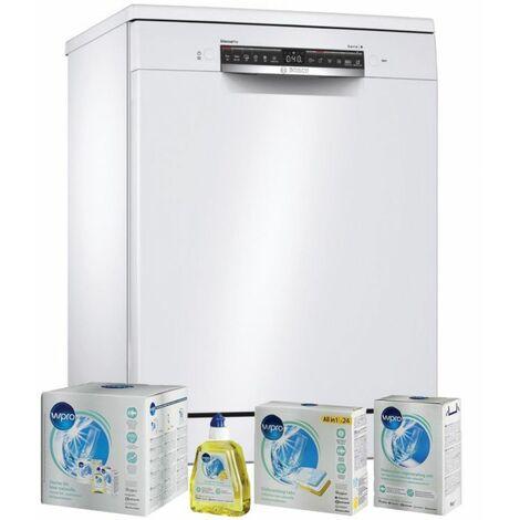 BOSCH Lave-vaisselle posable blanc 40dB 14 couverts 60cm AquaSensor - Blanc