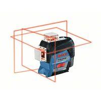 Bosch Livella laser a linee GLL 3-80 C Professional con 1 batteria da 2,0 Ah al litio e set di accessori - 0601063R02