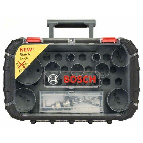 Bosch Lochsägen-Set HSS-Bimetall Elektriker, 11-teilig, 22 - 65 mm