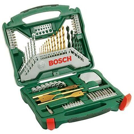 Bosch Maletín X-Line con 70 unidades para taladrar y atornillar (para madera, piedra y metal, accesorios para taladro atornillador)