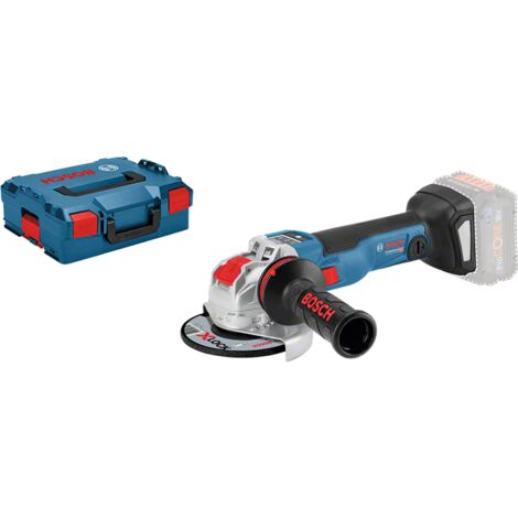 Bosch Meuleuse Angulaire connect'e sans Fil Bosch Professional Gwx 18V-10 SC, 06017B0400, L-Boxx, Version Solo sans Batterie