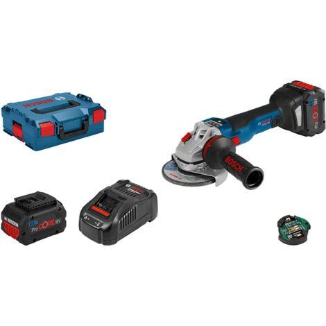 Bosch Meuleuse angulaire sans fil GWS 18V-10 SC, avec 2 batterie ProCORE 18 V, 8,0 Ah, chargeur rapide 06019G340H