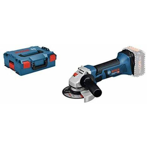 Bosch Meuleuse d'angle professionnelle GWS LI, 10000 tr/min, diamètre du disque, batterie, en L-BOXX, Noir/Bleu/Gris/Rouge, 18 V/ 115 mm