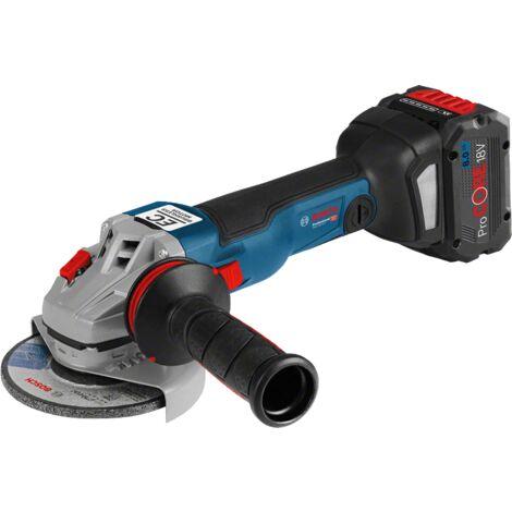 Bosch meuleuse GWS 18 V - 10C 125mm 18 V 2 batteries 18 V 5 AH LBoxx connectable 06019G310D