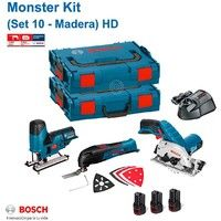 BOSCH Monster Kit 12V Set 10 HD Special Holz (GKS 12V-26 + GOP 12V-LI + GST 12V-70 + 3 x 2,0 Ah + GAL1230CV + L-Boxx 102 + L-Boxx 136)