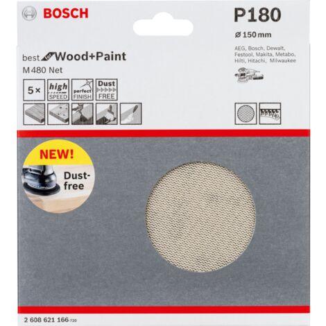 50 St/ück, /Ø 125 mm, K/örnung 180, C470 Bosch Pro Schleifblatt f/ür Exzenterschleifer Holz und Farbe