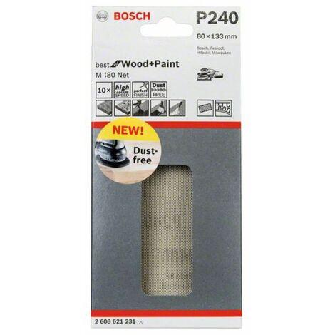 Bosch Schleifblatt C430 10er-Pack 180 Klett 8 Löcher 80 x 133 mm