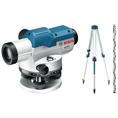 Bosch - Niveau optique jusqu'à 100m + Trépied + Mire (pack extérieur) - GOL 26D