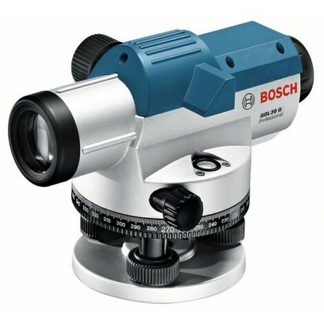 Bosch Optisches Nivelliergerät GOL 20 G, mit Baustativ BT 160, Messstab GR 500 061599404P