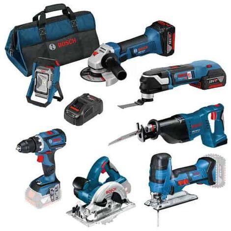 BOSCH Pack 7 outils 18V 5Ah - 0615990K1D