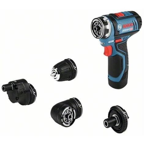 Bosch Perceuse-visseuse sans fil GSR 12V-35 FC   2x batteries 3,0 Ah avec 4 accessoires et L-BOXX