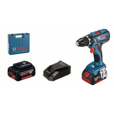Bosch Perceuse-visseuse sans fil GSR 18V-28, 2 x batteries GBA 18V, chargeur rapide AL 1860 CV - 06019H4105