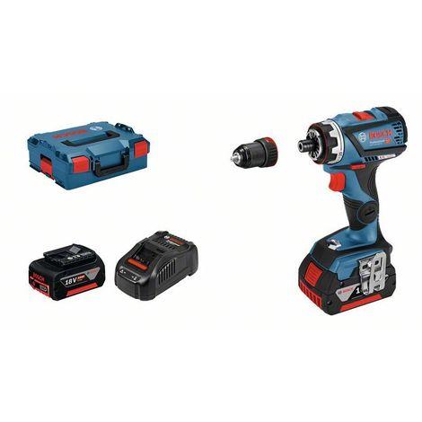 Bosch Perceuse-visseuse sans fil GSR 18V-60 FC, 2 x 5,0 Ah Li-Ion batteries, L-BOXX - 06019G7101