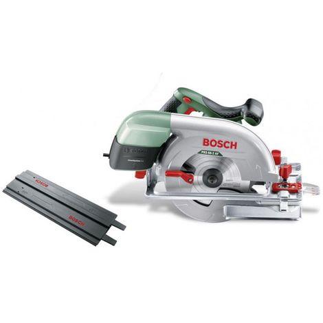 Bosch PKS 66-2 AF Scie circulaire 190 mm 1600 W + Lame de scie SpeedLine + Rail de guidage 70 cm ( 0603502004 )