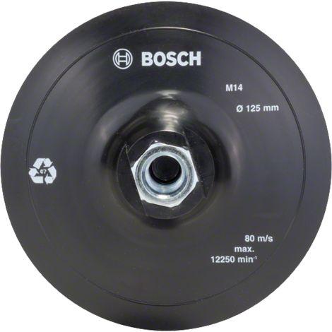 Bosch Plateau de ponçage caoutchouc à système auto-agrippant pour meuleuses angulaires, 125 mm