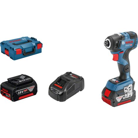 Bosch pro Visseuse a chocs sans fil GDR 18V 200 C 2 batteries 5,0 Ah 200 Nm, Bluetooth Lboxx 06019G4100
