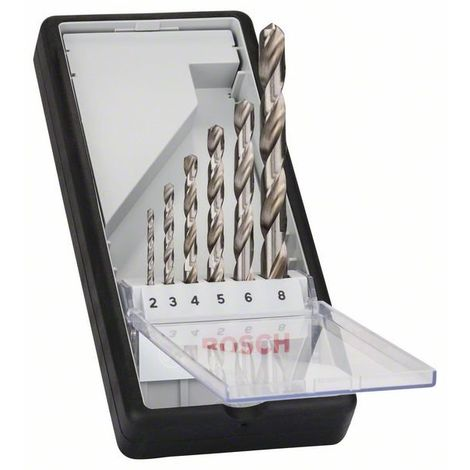 Bosch Professional 6tlg. Robust Line Metallbohrer-Set HSS-G, 135°
