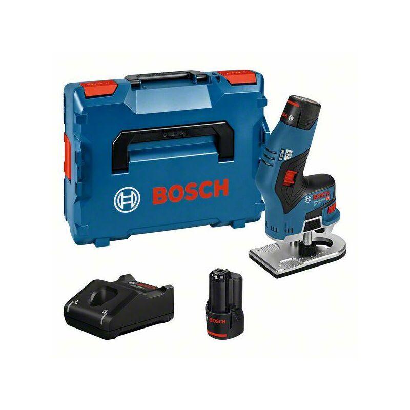 Bosch Affleureuse sans-fil GKF 12V-8, avec 2 x 3,0 Ah Li-Ion Batterie, L-BOXX - 06016B0000