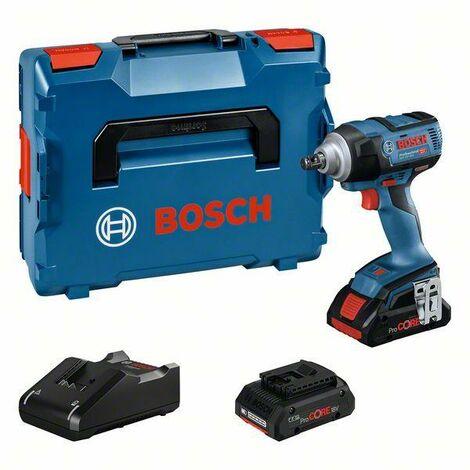 Bosch Professional Boulonneuses sans-fil GDS 18V-300, 2 batteries 4.0Ah, chargeur rapide GAL 18V-40 Professional - 06019D8202