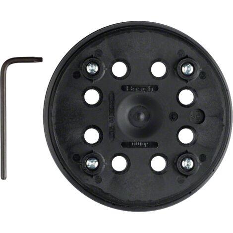 Bosch Professional Éponge de ponçage (Ø 125mm, pour ponceuse excentriques PEX 270 A/PEX 270 AE, moyennement dur avec système auto-agrippant)