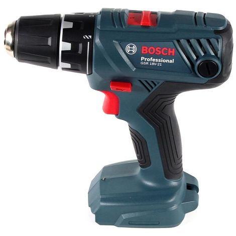 Bosch Professional GSR 18 V-21 Perceuse-visseuse sans fil + Coffret de transport + 2x Batteries GBA 2,0 Ah + Chargeur GAX 18V-30