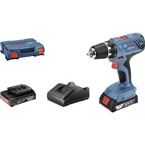 Bosch Professional GSR 18V-21 06019H100A Perceuse-visseuse sans fil 18 V 2.0 Ah Li-Ion + 2 batteries, + mallette, + cha