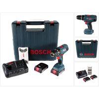 Bosch Professional GSR 18V-21 Akku Bohrschrauber 18V 55Nm ( 06019H1070 ) + 2x Akku 2,0Ah + Ladegerät + Bit-Set + Koffer