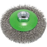 Bosch Professional Kegelbürste Clean for Inox, 100mm, Bürste, für Winkelschleifer M14