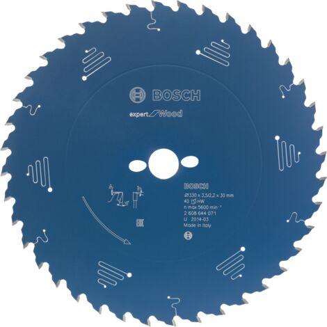 Bosch Professional Kreissägeblatt Expert for Wood, 165mm, Sägeblatt, blau
