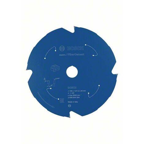 Bosch Professional Lame de scie circulaire Expert for Fibre Cement pour scies sans fil 160 x 1,8/1,2 x 20 T4 - 2608644554